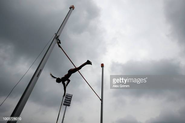 General view during the women's pole vault final on day 3 of the German Athletics Championships at Max-Morlock-Stadion on July 22, 2018 in Nuremberg,...