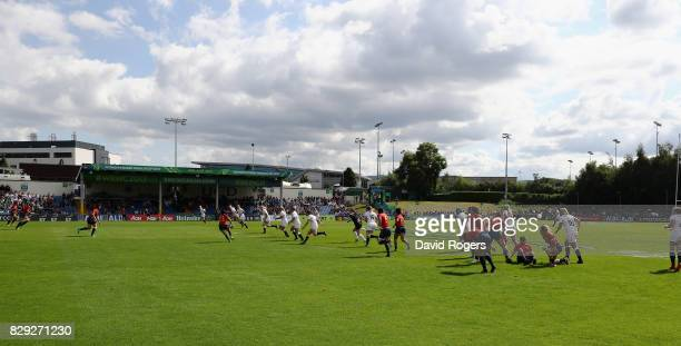 General view during the Women's Rugby World Cup 2017 Group B match between England and Spain at the UCD Bowl on August 9, 2017 in Dublin, Ireland.