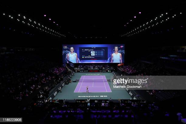 General view during the Women's Singles final match between Ashleigh Barty of Australia and Elina Svitolina of Ukraine on Day Eight of the 2019...