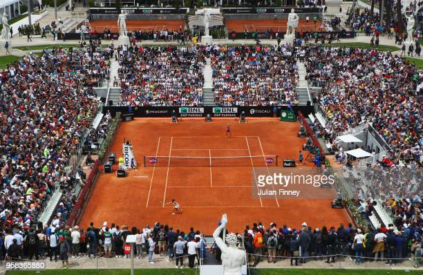 A general view during the Women's singles first round match between Aleksandra Krunic of Serbia and Roberta Vinci of Italy on day two of the...