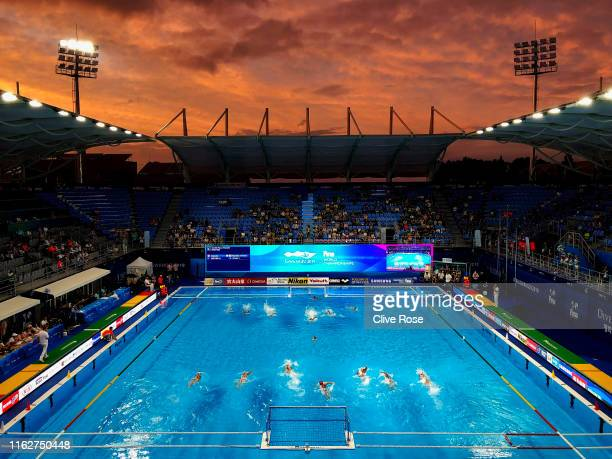 A general view during the Women's Water Polo Preliminary round match between Canada and South Korea on day six of the Gwangju 2019 FINA World...