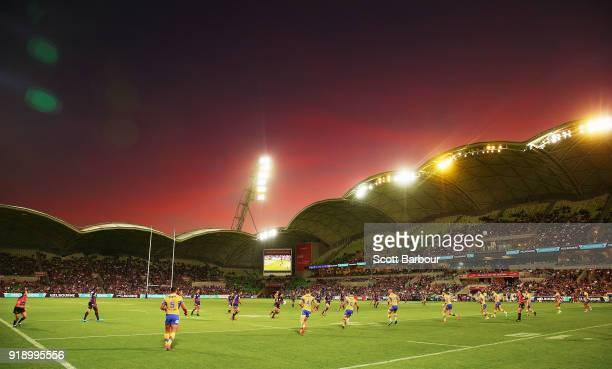 A general view during the World Club Challenge match between the Melbourne Storm and the Leeds Rhinos at AAMI Park on February 16 2018 in Melbourne...