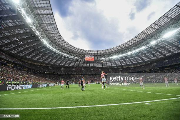 General view during the World Cup Final match between France and Croatia at Luzhniki Stadium on July 15 2018 in Moscow Russia