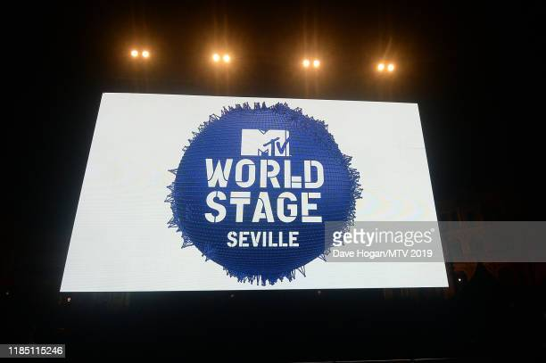 A general view during the World Stage held at the Plaza de Espana ahead of the MTV EMAs 2019 on November 02 2019 in Seville Spain