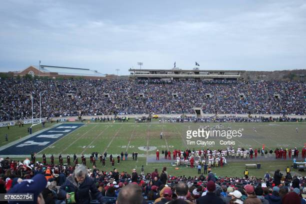 A general view during the Yale V Harvard Ivy League Football match at the Yale Bowl Yale won the game 243 to win their first outright league title...