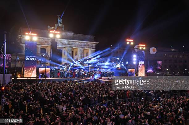 A general view during the ZDF Live Show 'Willkommen 2020' Silvester am Brandenburger Tor on December 31 2019 in Berlin Germany