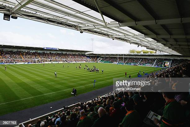 A general view during the Zurich Premiership match between Northampton Saints and London Wasps on September 27 2003 at Franklins Gardens in...