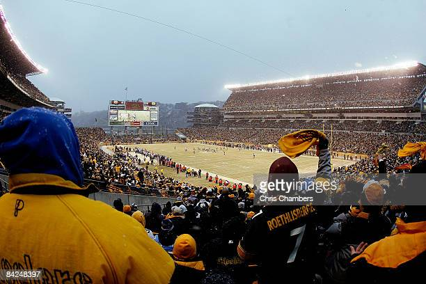 A general view during their AFC Divisional Playoff Game between the Pittsburgh Steelers and the San Diego Chargers on January 11 2009 at Heinz Field...