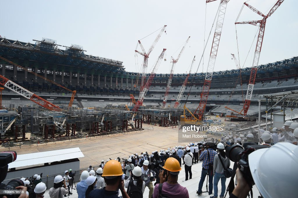New National Stadium Construction Media Tour