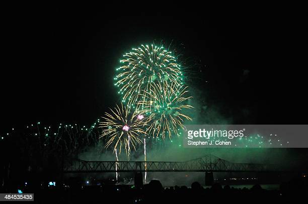 A general view during Thunder Over Louisville at Waterfront Park on April 12 2014 in Louisville Kentucky