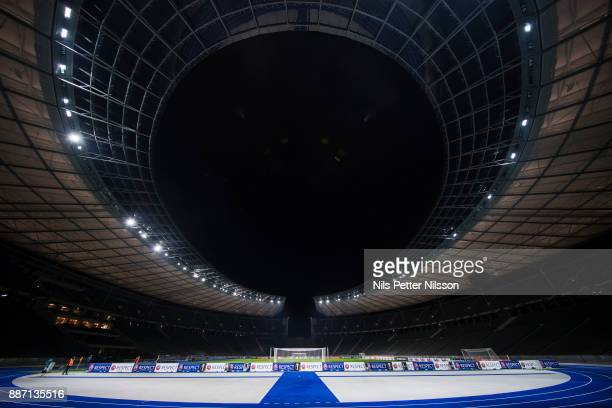 General view during training ahead of the UEFA Europa League group J match between Hertha BSC and Ostersunds FK at the Olympic Stadium on December 6,...