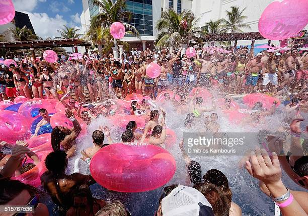 A general view during Victoria's Secret PINK Nation Spring Break Beach Party in Cancun Mexico on March 15 2016 in Cancun Mexico