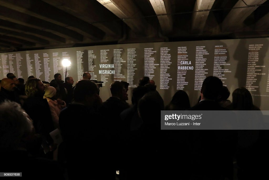 FC Internazionale Visit The Holocaust Memorial In Milan