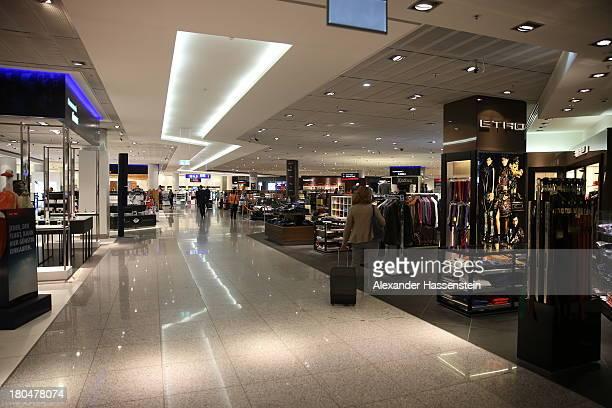 General view Duty Free shops at Terminal 1 at Frankfurt / Main International Airport on September 12 2013 in Frankfurt am Main Germany