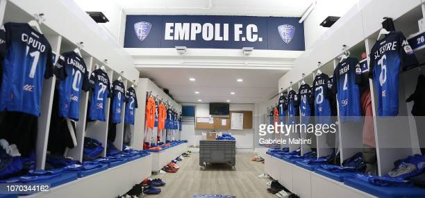 General view Empli FC dressing room during the Serie A match between Empoli and Bologna FC at Stadio Carlo Castellani on December 9 2018 in Empoli...