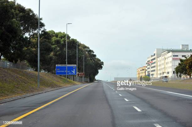 A general view empty streets on Day Twelve of National Lockdown on April 07 2020 in Cape Town South Africa According to media reports President...
