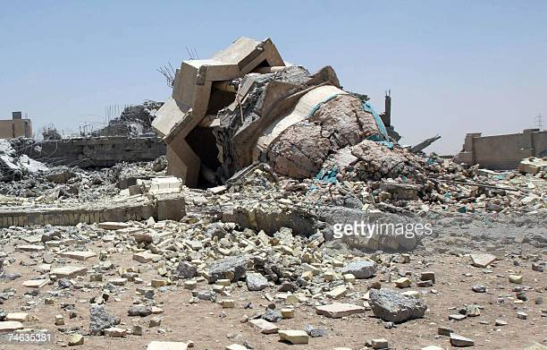 A general view for the destruction inflicted to a Sunni mosque that was attacked in the city of AlZubair near the southern city of Basra 15 June 2007...