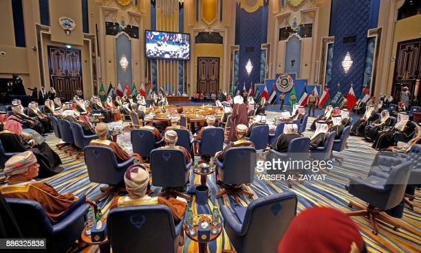 A general view for the GCC leaders meeting at Bayan palace in Kuwait City on December 5 2017 / AFP PHOTO / Yasser AlZayyat