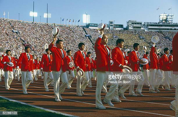 General view for the opening ceremonies of the 1984 Summer Olympics XXIII in Los Angeles, California.