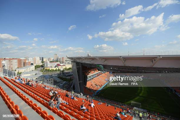 General view from back of the stands of the stadium prior to the 2018 FIFA World Cup Russia group H match between Japan and Senegal at Ekaterinburg...