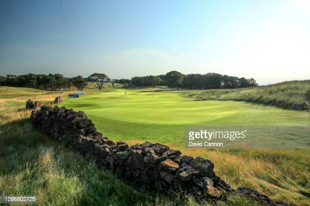 General view from behind the green on the par 4, 11th hole at The Renaissance Club on August 12, 2020 in North Berwick, Scotland.