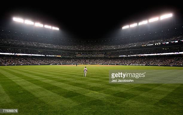 General view from center field during Game Three of the 2007 Major League Baseball World Series between the Boston Red Sox and the Colorado Rockies...