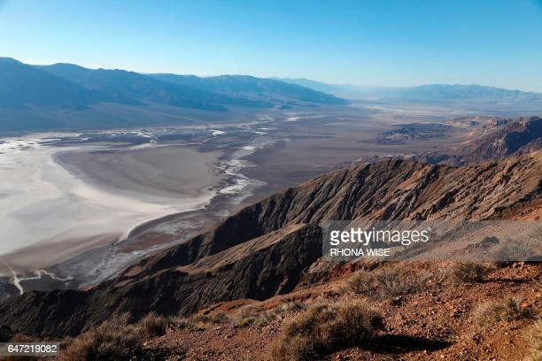A general view from Dante's View in Death Valley National Park in Death Valley California on February 14 2017 / AFP PHOTO / RHONA WISE