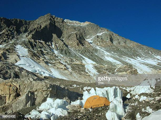 A general view from Everest Base Camp in Nepal on May 17 2009 Bad weather conditions forced three Nepalese Sherpa brothers to give up their plans to...