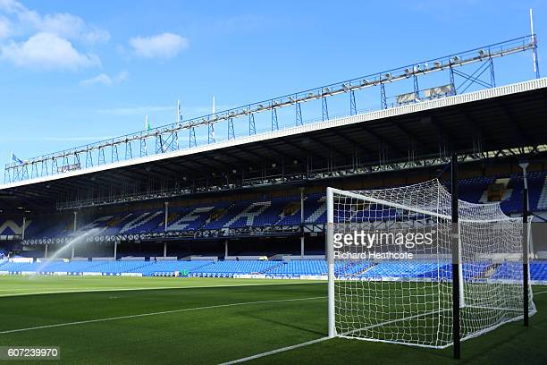 General view from inside the stadium before kick off during the Premier League match between Everton and Middlesbrough at Goodison Park on September...