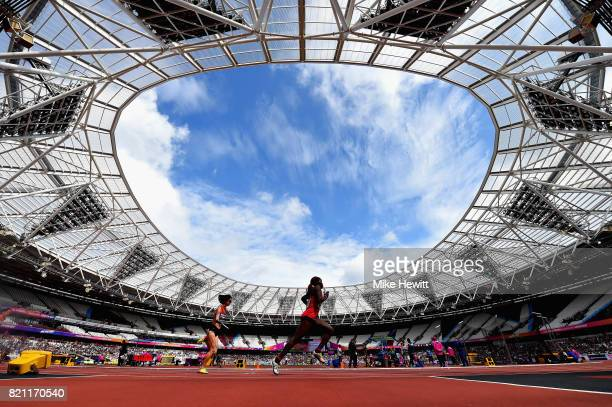 A general view from inside the stadium during day ten of the IPC World ParaAthletics Championships 2017 at London Stadium on July 23 2017 in London...