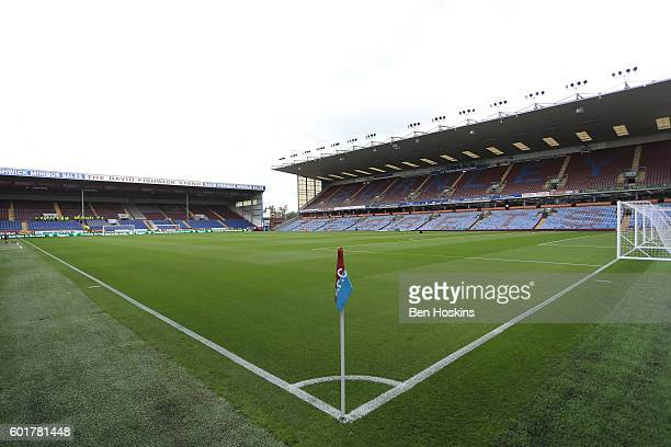 General view from inside the stadium during the Premier League match between Burnley and Hull City at Turf Moor on September 10 2016 in Burnley...