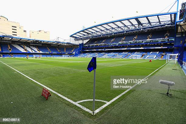 General view from inside the stadium piror to kick off during the Premier League match between Chelsea and Burnley at Stamford Bridge on August 27...