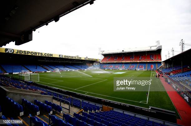 A general view from inside the stadium prior to the Premier League match between Crystal Palace and Liverpool FC at Selhurst Park on August 20 2018...