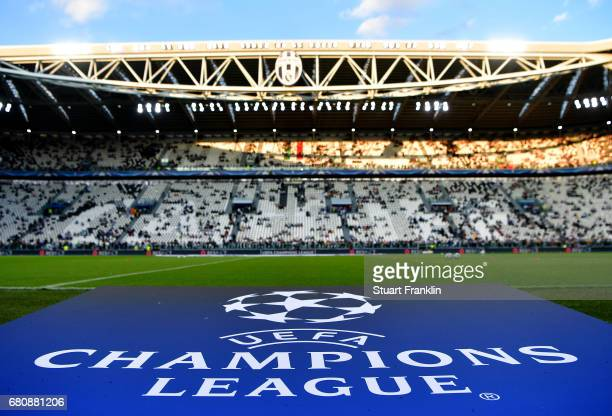 A general view from inside the stadium prior to the UEFA Champions League Semi Final second leg match between Juventus and AS Monaco at Juventus...