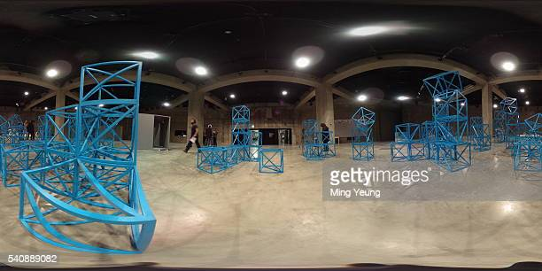 A general view from inside The Tanks at the Tate Modern's new Switch House on June 14 2016 in London England The Tate Modern art gallery unveils its...