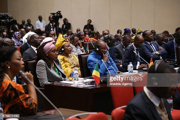 A general view from opening session of the New Partnership for Africa's Development meeting in Kigali Rwanda on July 16 2016 that organized within...