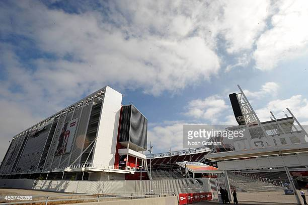 General view from outside Levi's Stadium before the San Francisco 49ers play against the Denver Broncos on August 17, 2014 in Santa Clara, California.