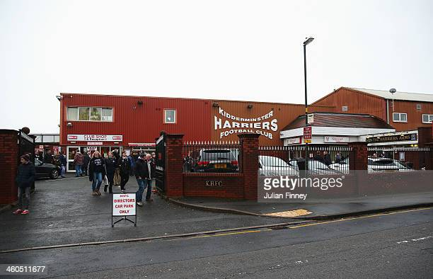 A general view from outside the ground prior to the Budweiser FA Cup third round match between Kidderminster Harriers and Peterborough United at...