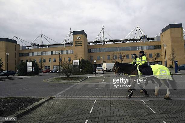 General view from outside the National Hockey Stadium, a possible new ground for Wimbledon Football Club on January 24, 2003 in Milton Keynes,...