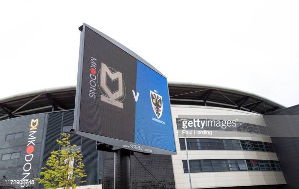 General View from outside the stadium before the Sky Bet League One match between Milton Keynes Dons and AFC Wimbledon at Stadium mk on September 07,...