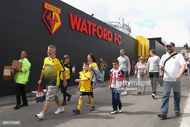 General view from outside the stadium during the Premier League match between Watford and Chelsea at Vicarage Road on August 20 2016 in Watford...