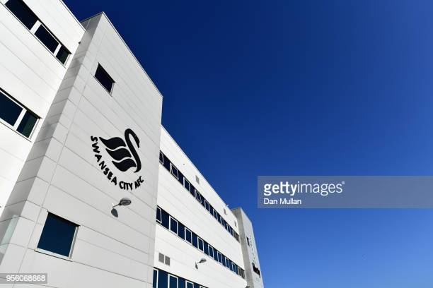 A general view from outside the stadium prior to the Premier League match between Swansea City and Southampton at Liberty Stadium on May 8 2018 in...