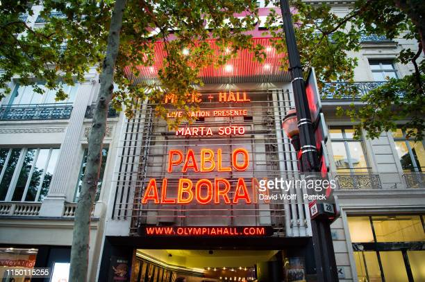 General view from Pablo Alboran Show at L'Olympia on June 14 2019 in Paris France