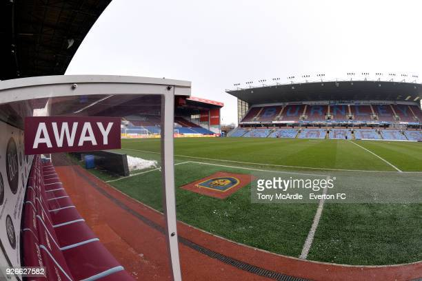 General view from the away dug out before the Premier League match between Burnley and Everton at Turf Moor on March 3, 2018 in Burnley, England.