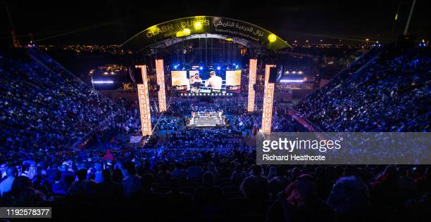 A general view from the back of the stands during the Matchroom Boxing 'Clash on the Dunes' show at Diriyah Season on December 07 2019 in Diriyah...