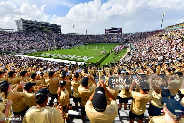 A general view from the band section at a football game between the UCF Knights and the Stanford Cardinals at Spectrum Stadium on September 14 2019...