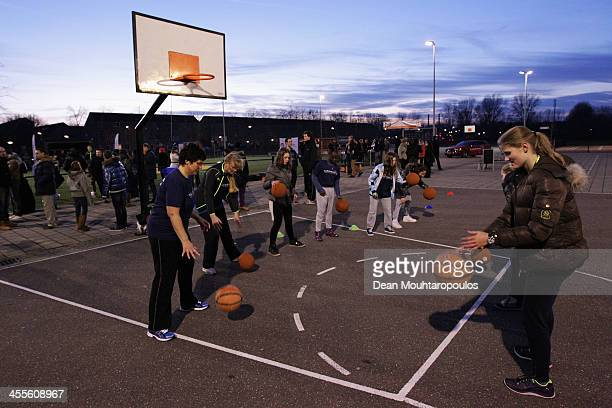 General view from the Basketball Training Session for students during the Laureus European Workshop and Project Visit held at Almere Echnaton school...