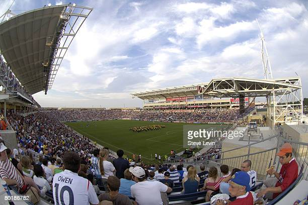 General view from the corner of Toyota Park in Bridgeview, Illinois during the 2006 Sierra Mist MLS All-Star game between the MLS All-Stars and...