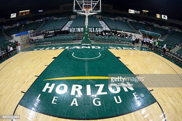 A general view from the court prior to the NCAA Women's Basketball game between the UIC Flames and Cleveland State Vikings on January 14 at the...