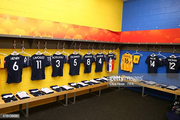 A general view from the France dressing room ahead of the FIFA Women's World Cup 2015 Group F match between France and England at the Moncton Stadium...